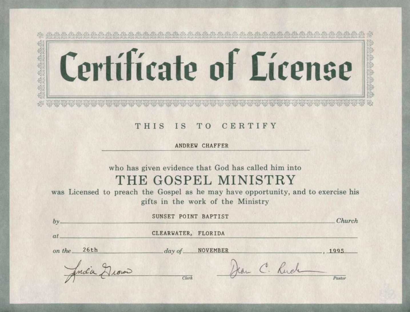 Free 8 Best Photos Of Printable Certificate Of License In Certificate Of License Template