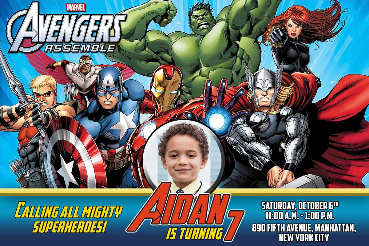Free Avengers Birthday Invitation | Dioskouri Designs Regarding Avengers Birthday Card Template