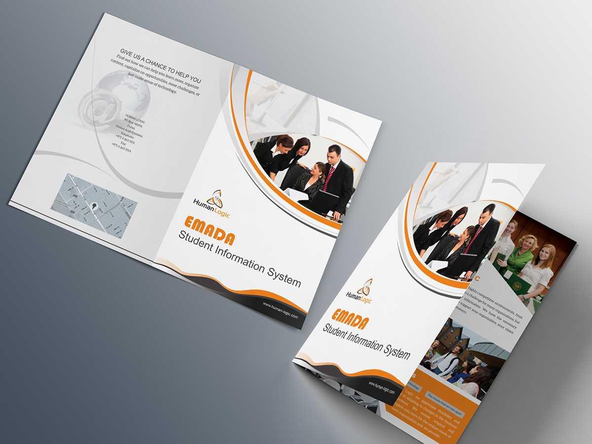 Free Bi Fold Brochure Psd On Behance Inside Single Page Brochure Templates Psd