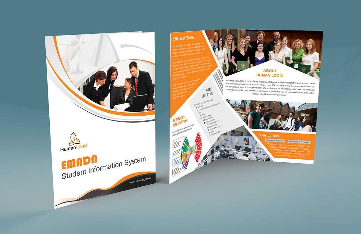 Free Bi Fold Brochure Psd On Behance Throughout Two Fold Brochure Template Psd
