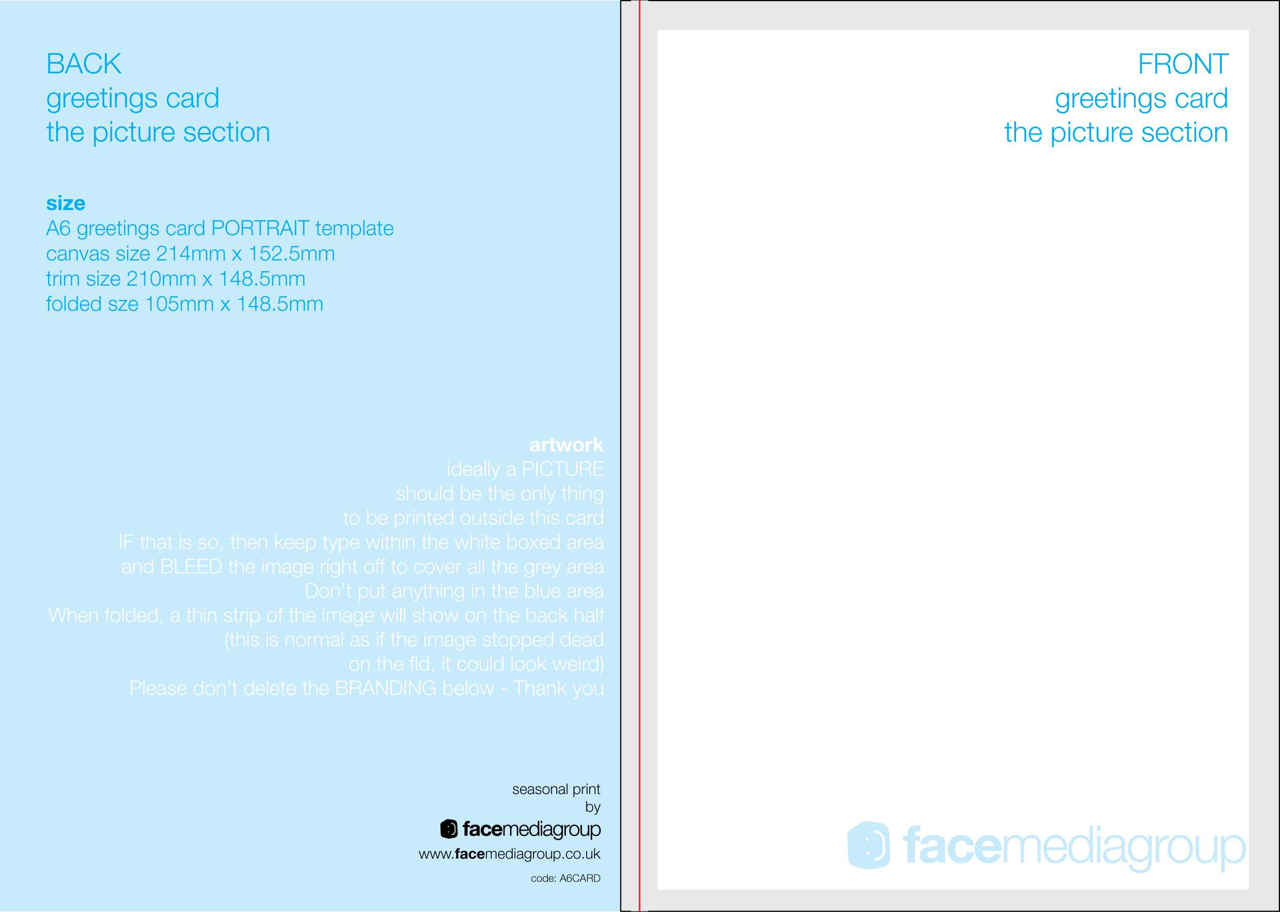 Free Blank Greetings Card Artwork Templates For Download Intended For Free Printable Blank Greeting Card Templates