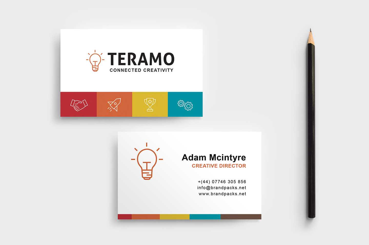 Free Business Card Template In Psd, Ai & Vector - Brandpacks In Visiting Card Illustrator Templates Download