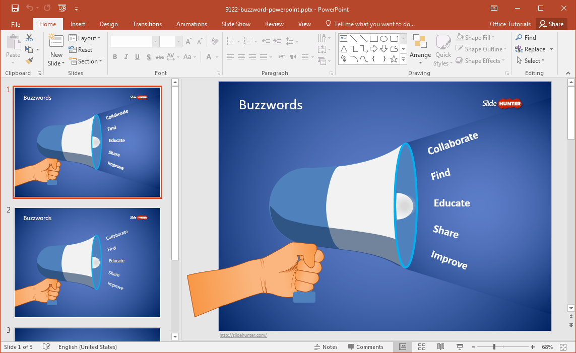 Free Buzzword Powerpoint Template Inside Powerpoint Replace Template
