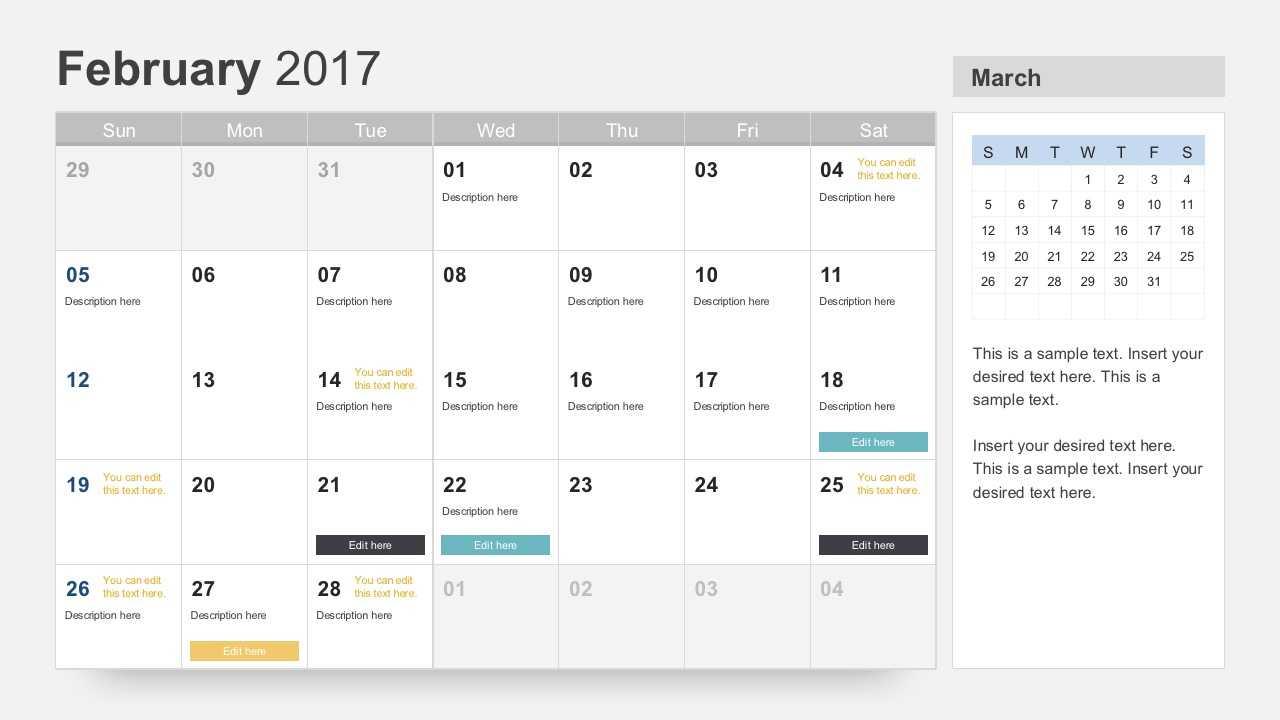 Free Calendar 2017 Template In Microsoft Powerpoint Calendar Template