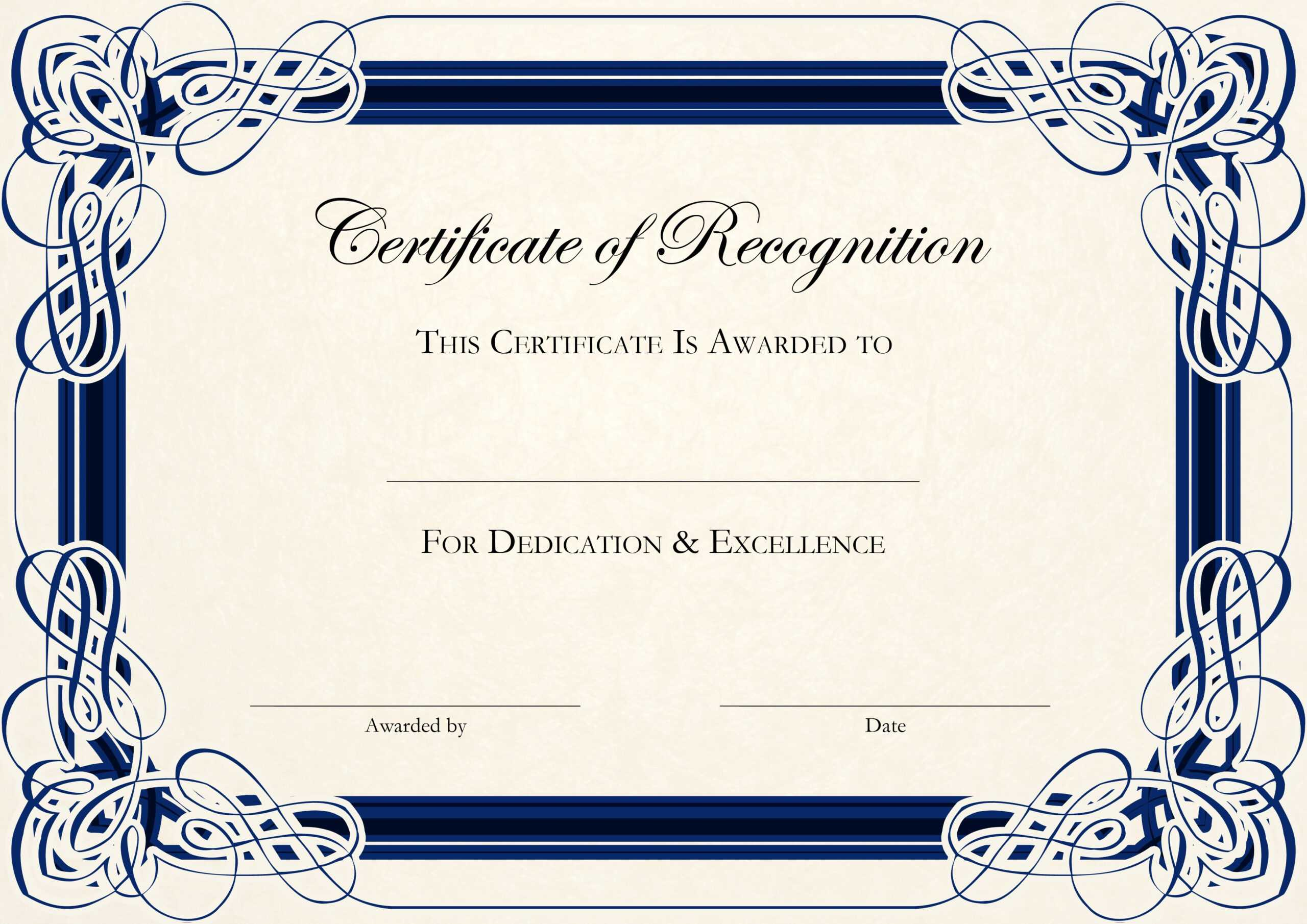 Free Certificate Templates For Word With Regard To Anniversary Certificate Template Free