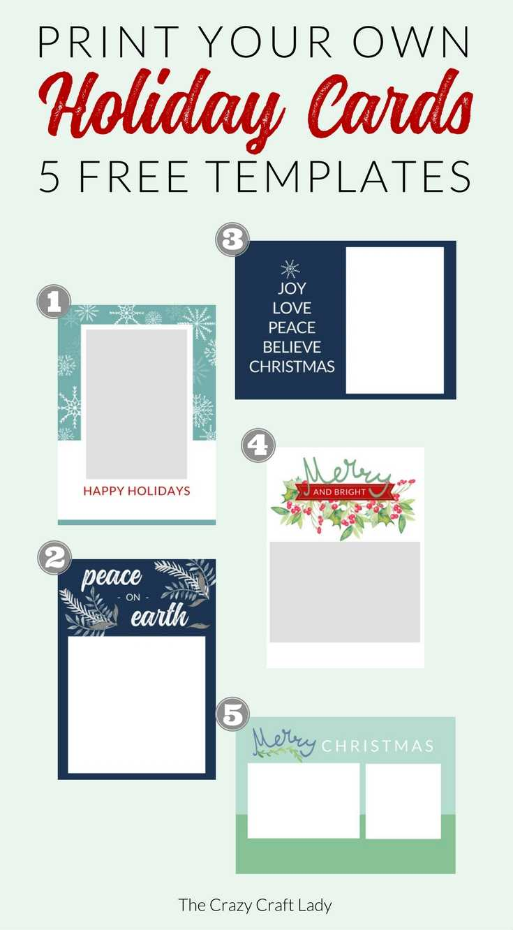 Free Christmas Card Templates - The Crazy Craft Lady In Template For Cards To Print Free