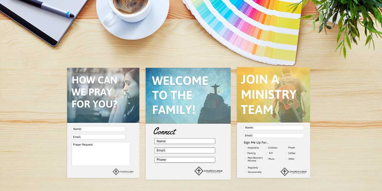 Free Church Connection Cards - Beautiful Psd Templates Throughout Decision Card Template