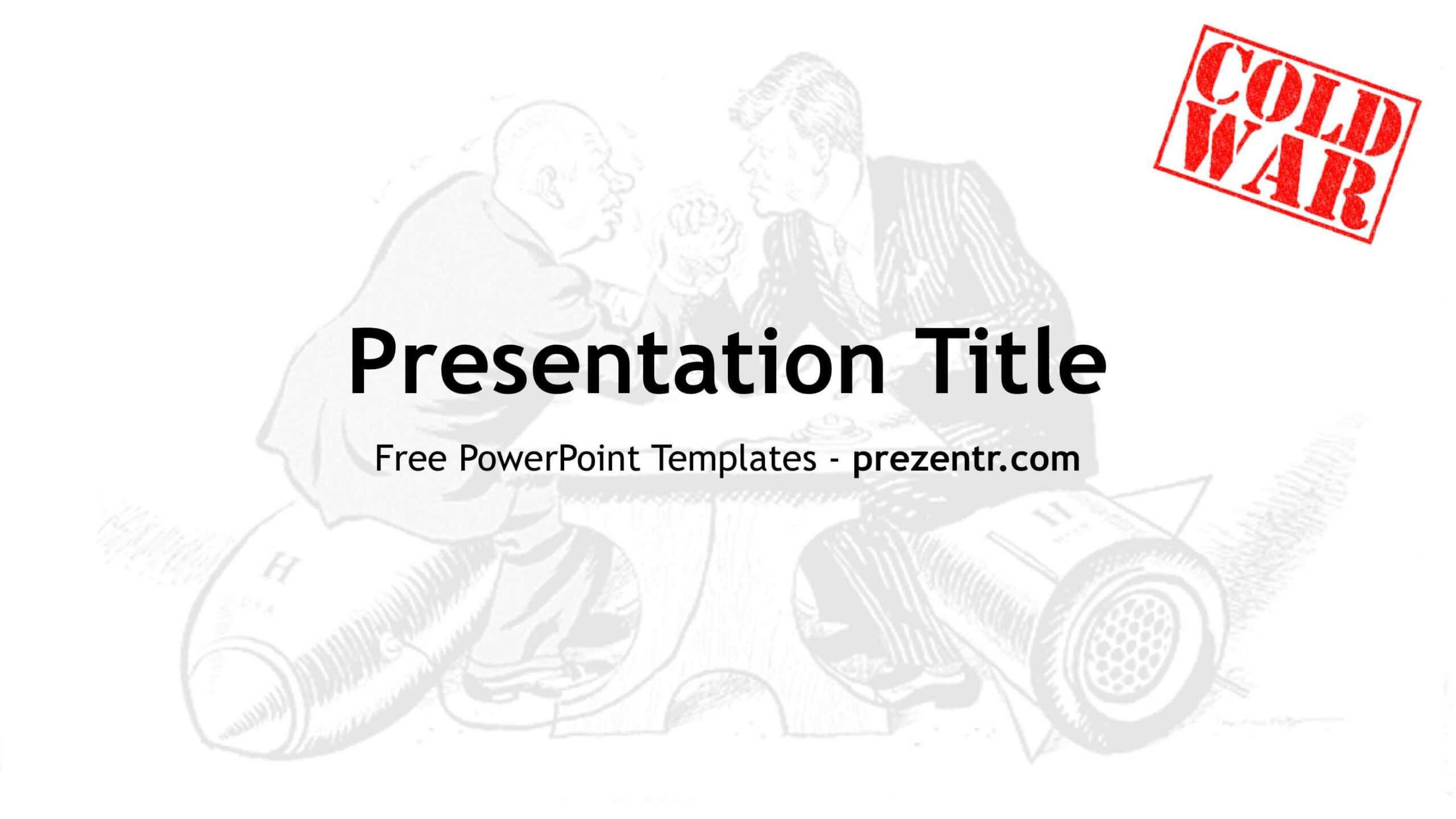 Free Cold War Powerpoint Template - Prezentr Ppt Templates For Powerpoint Templates War