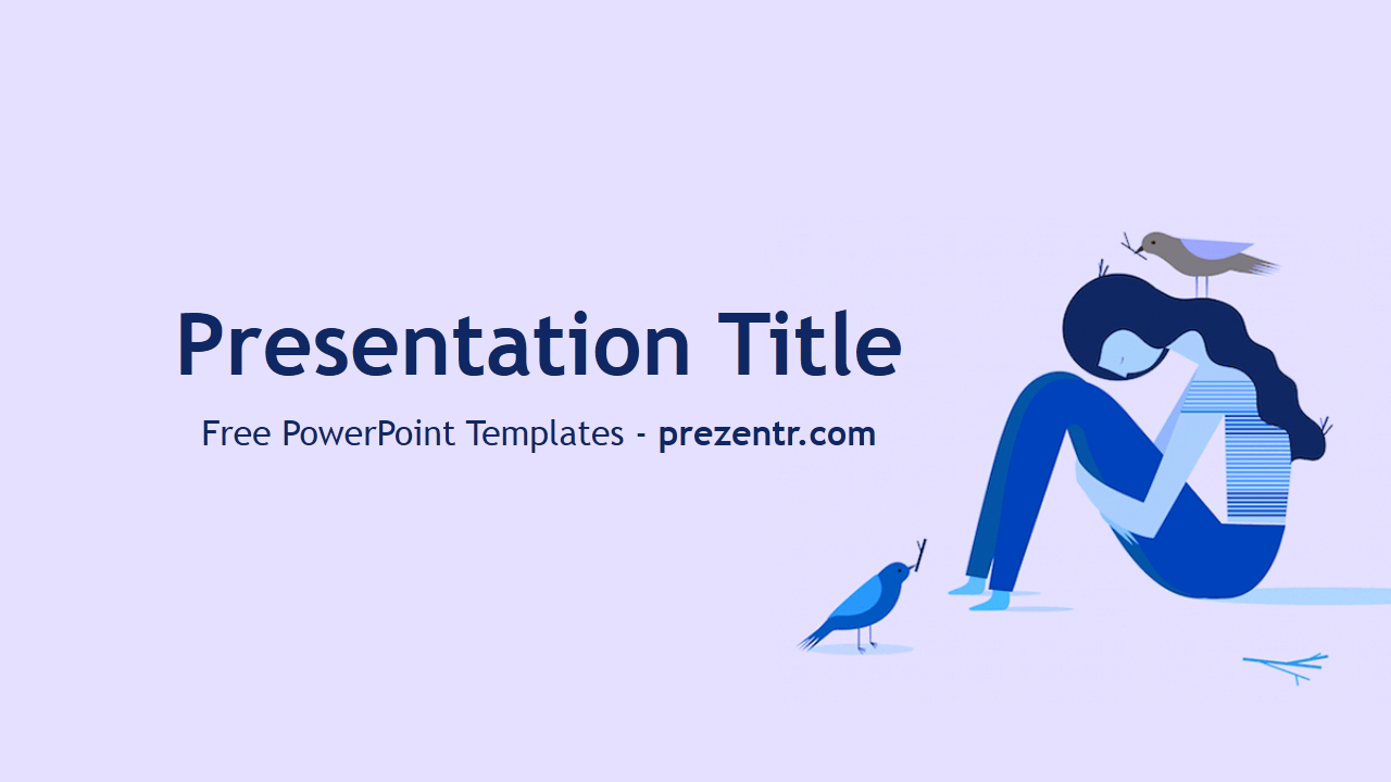 Free Depression Powerpoint Template - Prezentr Powerpoint Pertaining To Depression Powerpoint Template