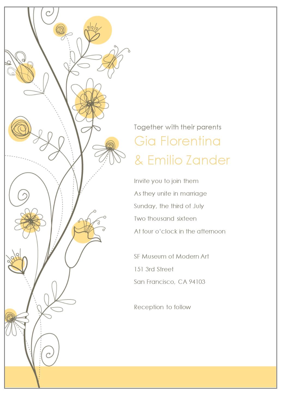 Free E Invite Templates In Free E Wedding Invitation Card Templates