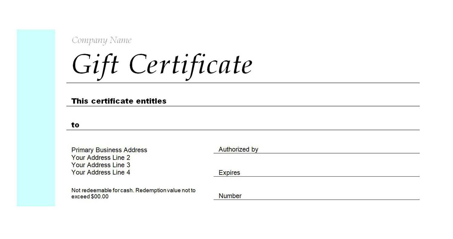 Free Gift Certificate Templates You Can Customize Inside Dinner Certificate Template Free
