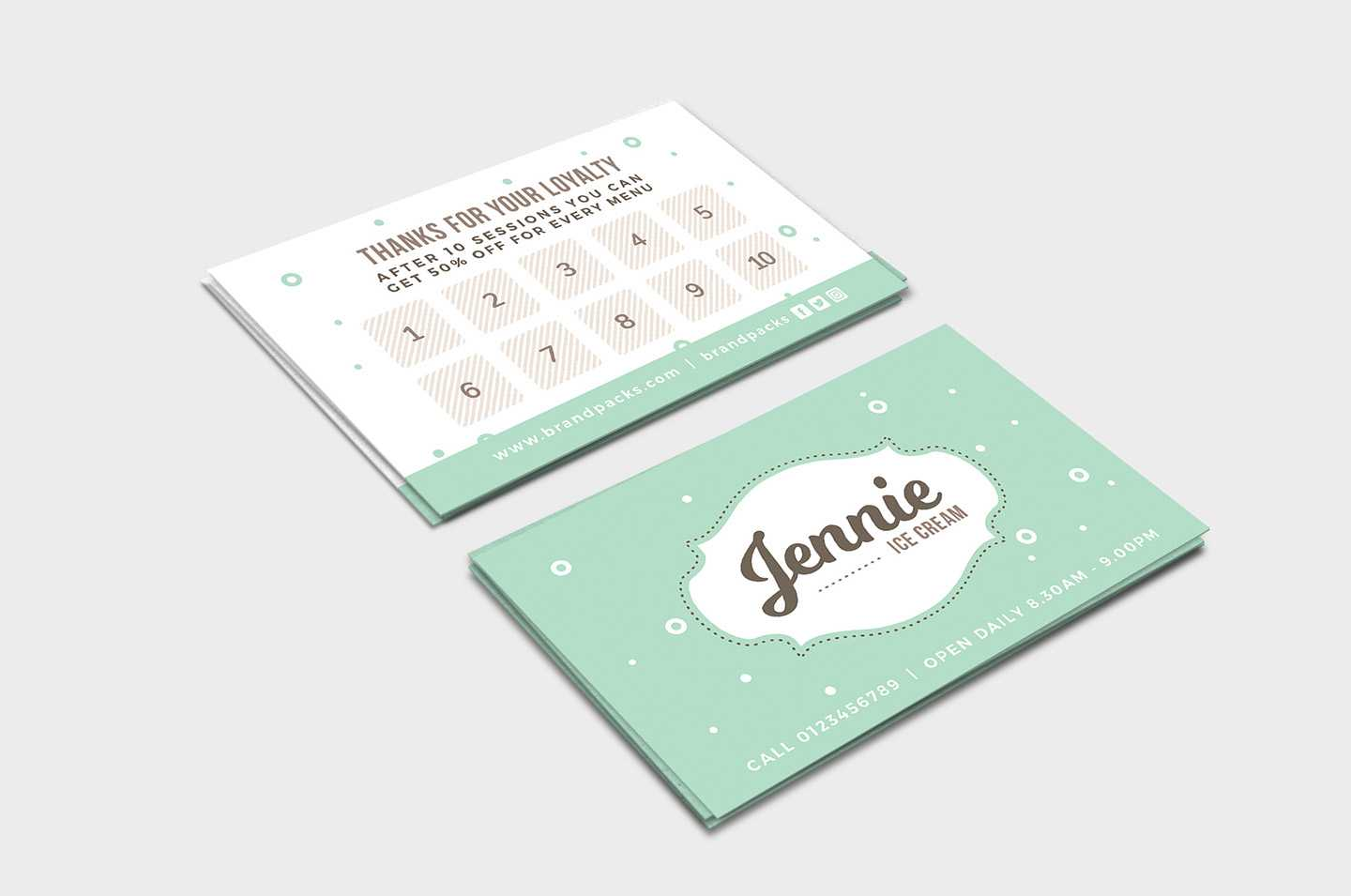Free Loyalty Card Templates – Psd, Ai & Vector – Brandpacks Intended For Membership Card Template Free
