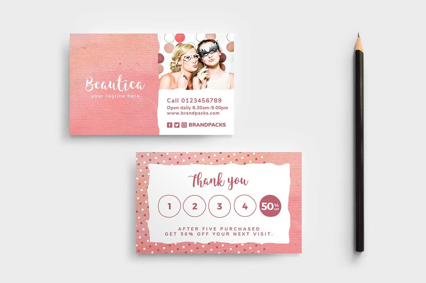 Free Loyalty Card Templates - Psd, Ai & Vector - Brandpacks With Regard To Customer Loyalty Card Template Free