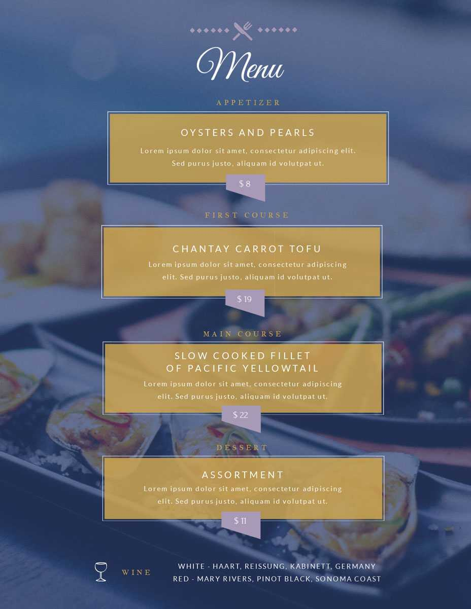 Free Menu Maker | Menu Creator | Visme Pertaining To Frequent Diner Card Template