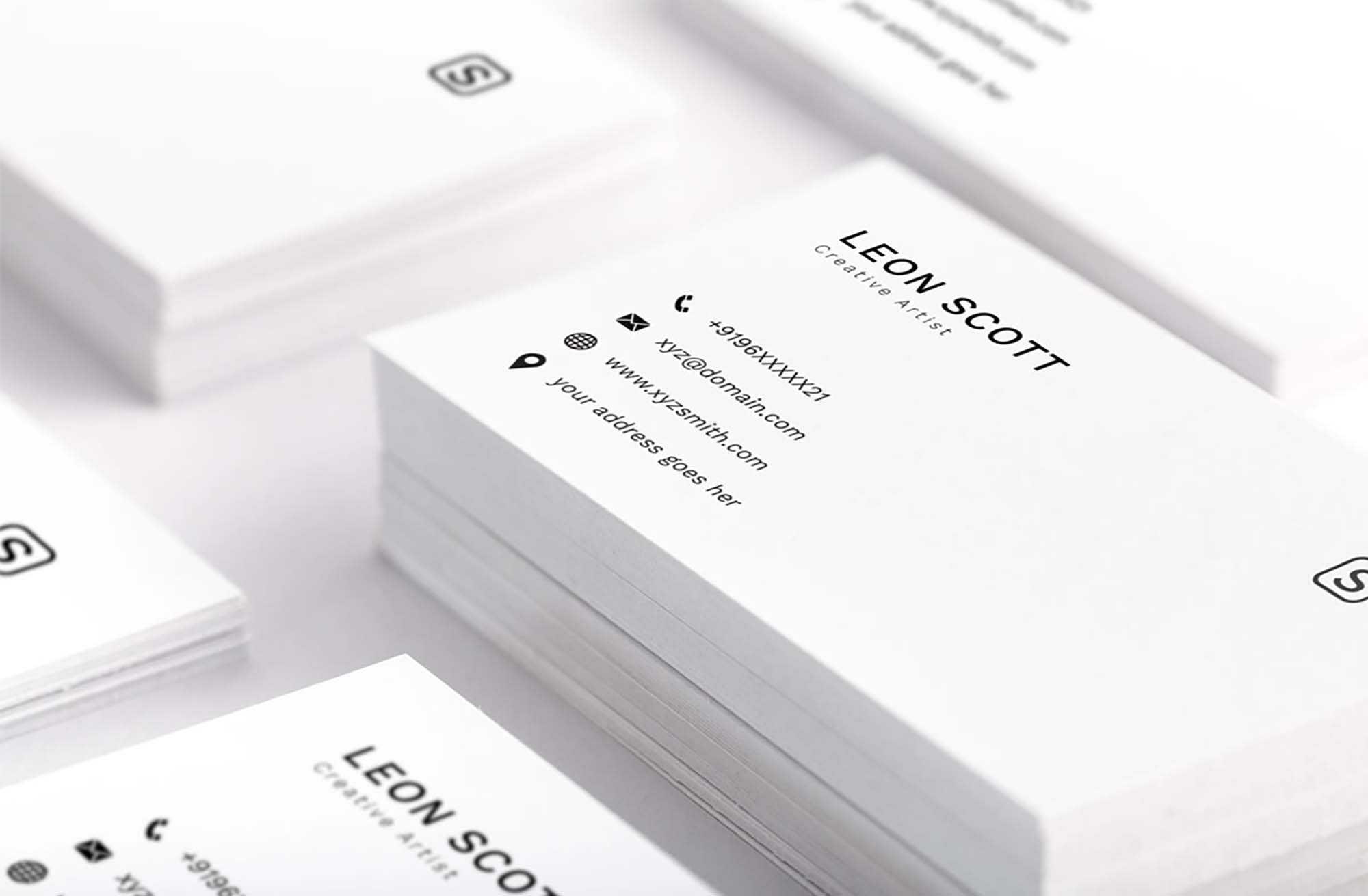 Free Minimal Elegant Business Card Template (Psd) Regarding Name Card Template Photoshop