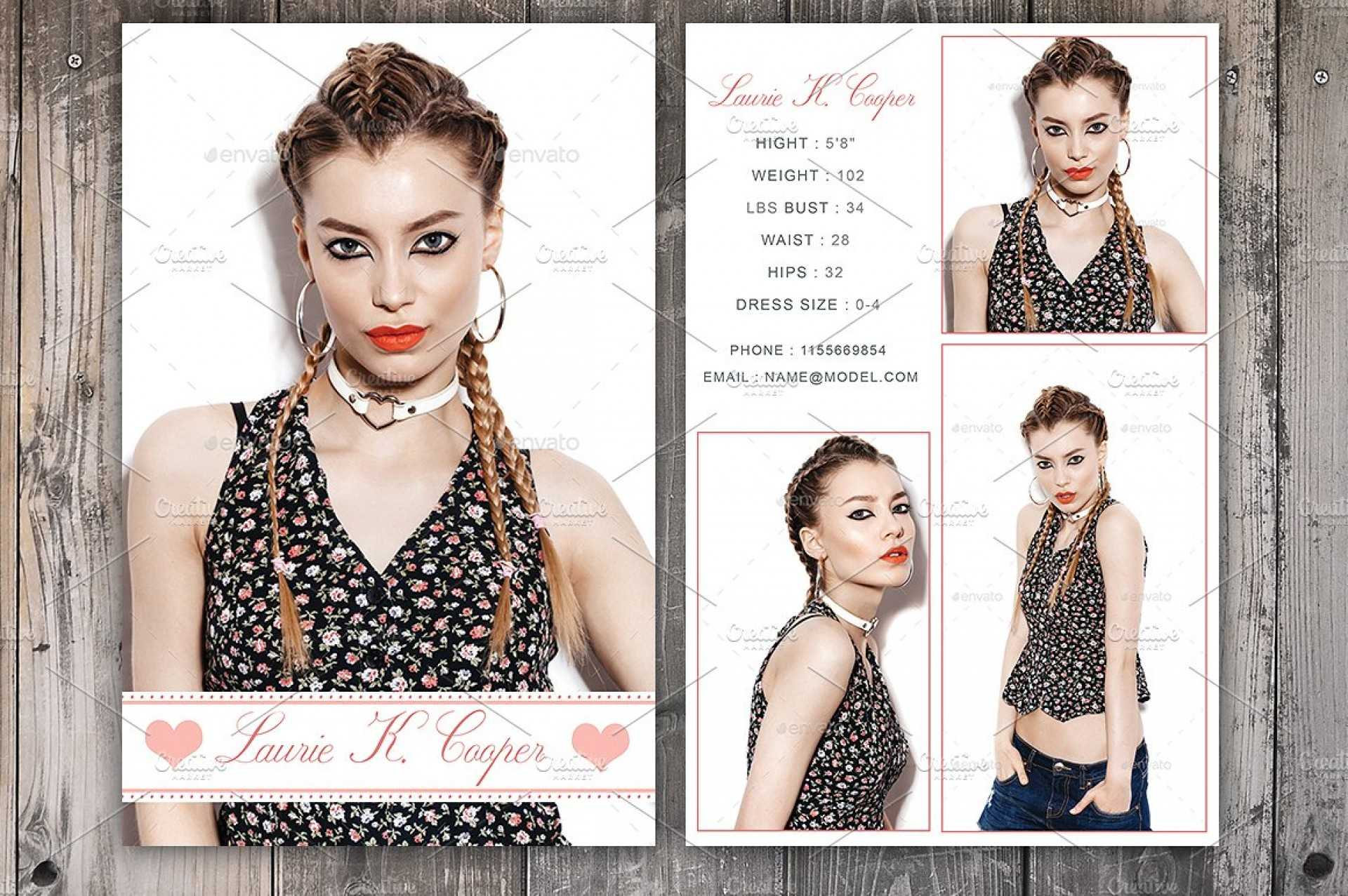 Free Model Comp Card Templates - C Punkt With Comp Card Template Psd