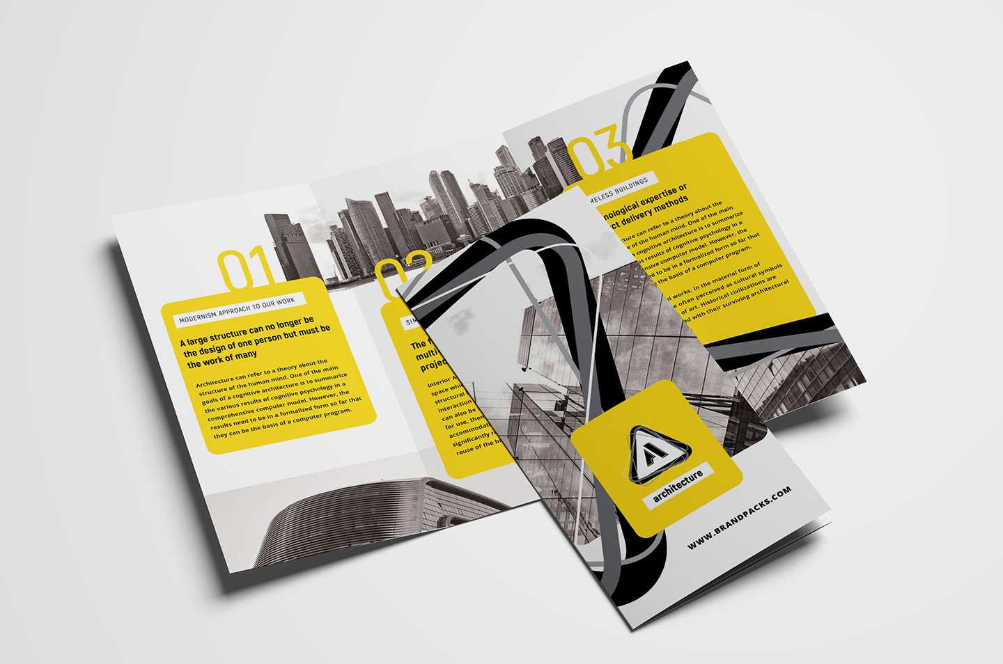 Free Modern Trifold Brochure Template For Photoshop Regarding Fancy Brochure Templates