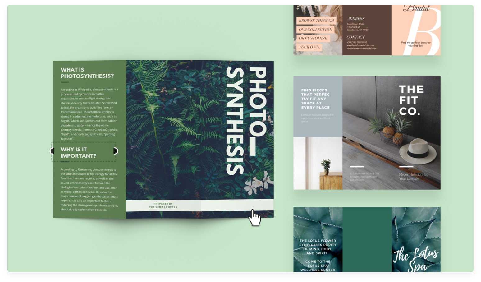 Free Online Brochure Maker: Design A Custom Brochure In Canva Inside Online Brochure Template Free
