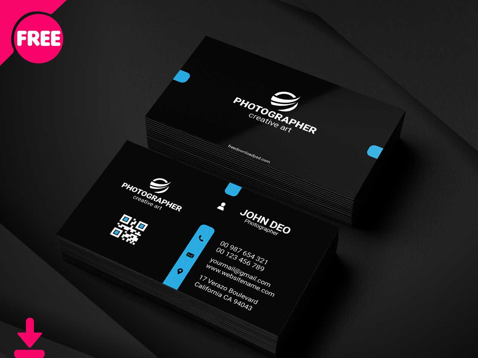 Free Personal Business Card Psd Template Cover | Searchmuzli For Free Personal Business Card Templates