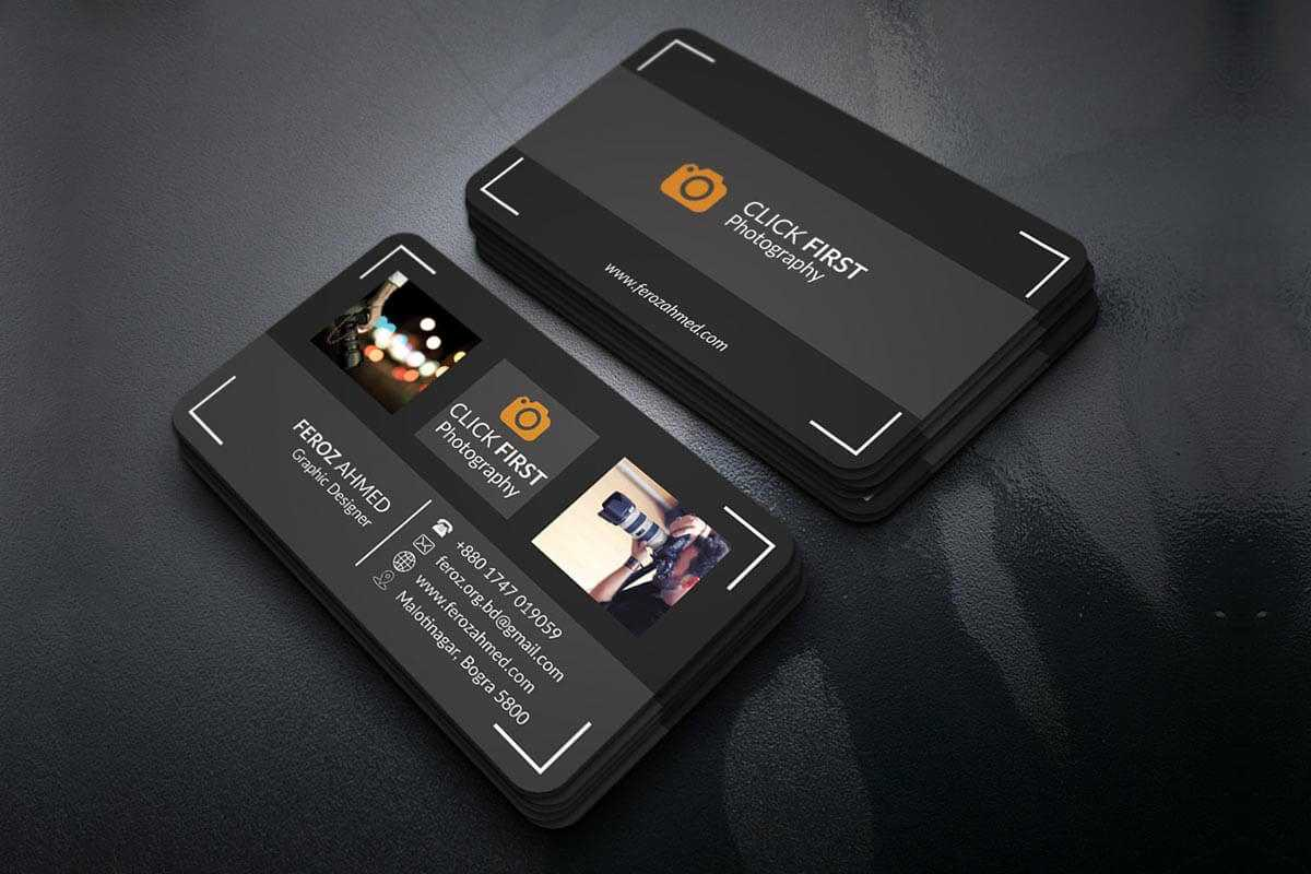 Free Photography Business Card Template - Creativetacos Throughout Free Business Card Templates For Photographers