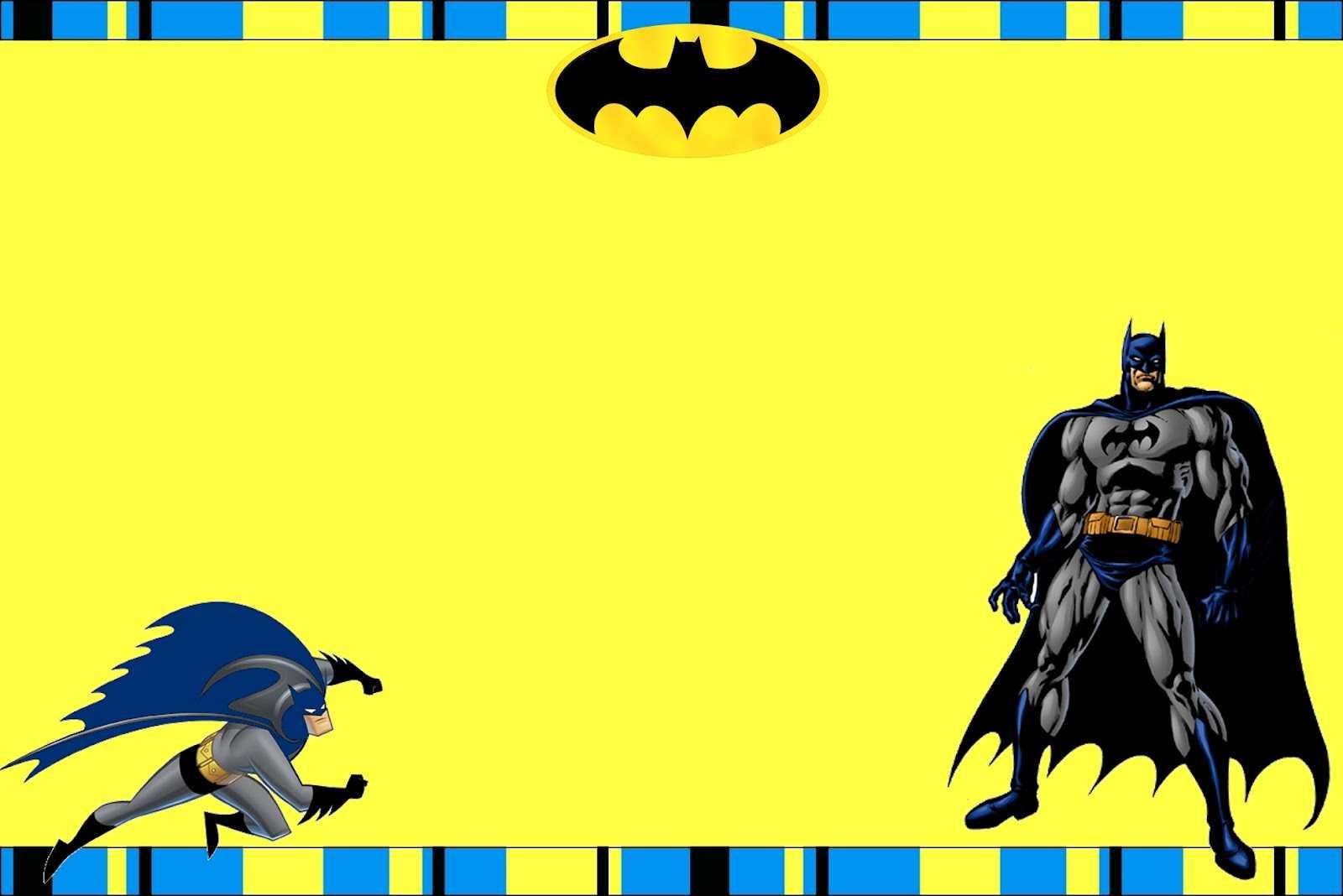 Free Printable Batman Birthday Invitations For Batman Birthday Card Template