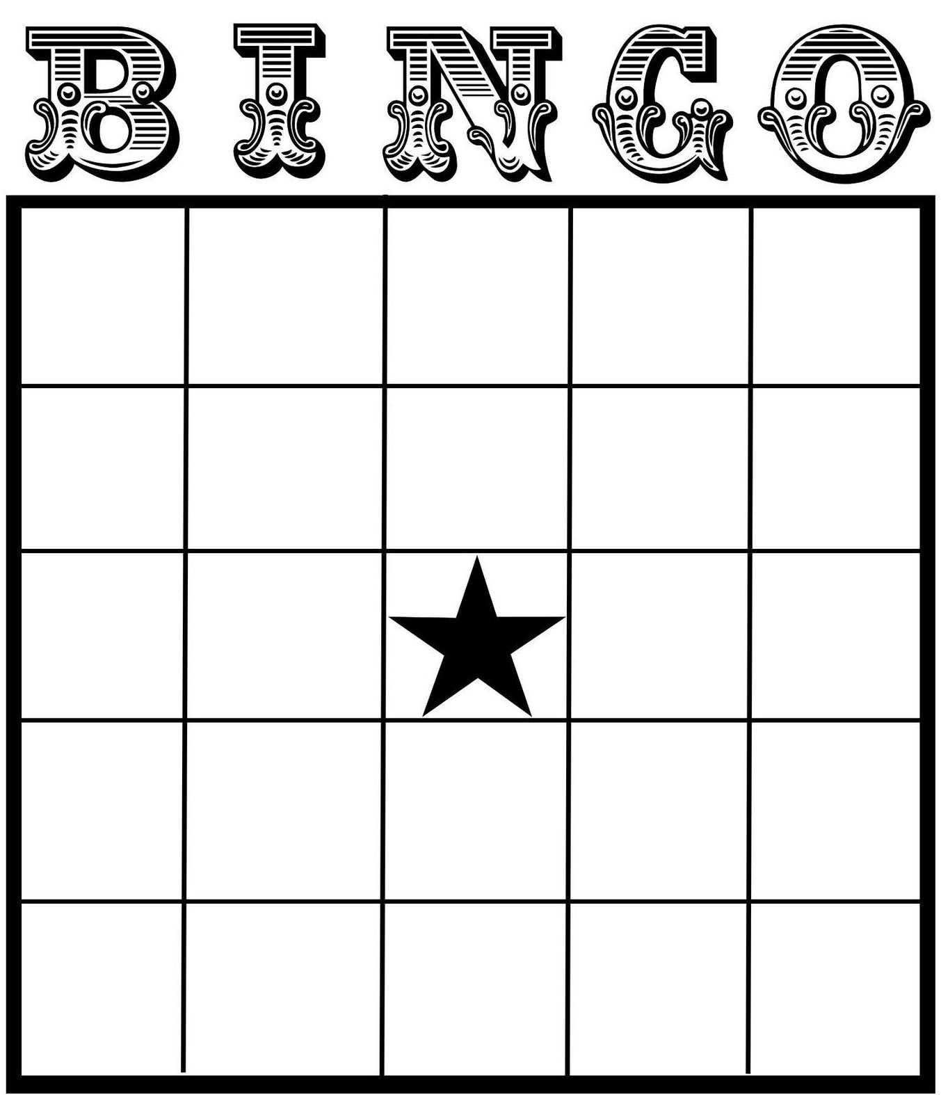 Free Printable Bingo Card Template - Set Your Plan & Tasks With Blank Bingo Card Template Microsoft Word