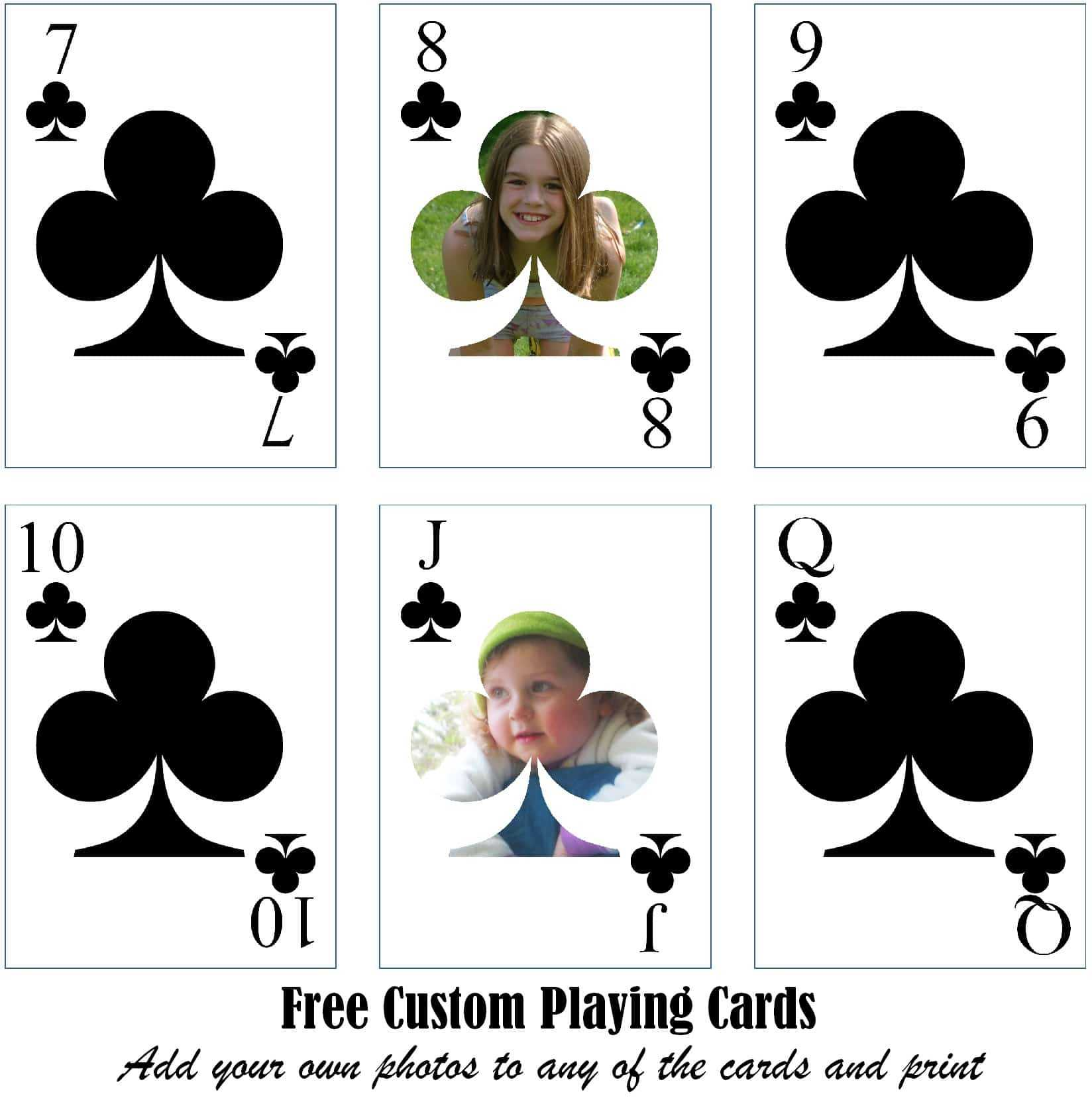 Free Printable Custom Playing Cards | Add Your Photo And/or Text Pertaining To Custom Playing Card Template
