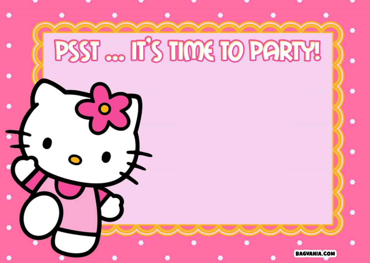 Free Printable Hello Kitty Birthday Invitations – Bagvania Inside Hello Kitty Birthday Card Template Free