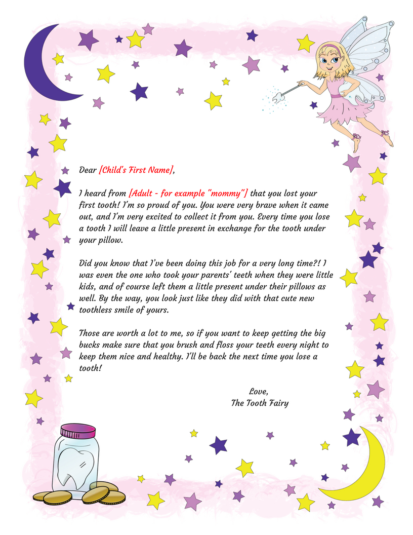 Free Printable Tooth Fairy Letter Template ] - Tooth Fairy Regarding Free Tooth Fairy Certificate Template