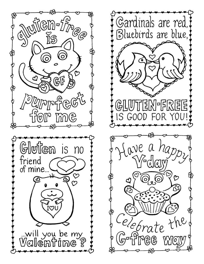 Free Printable Valentines Day Card Coloring Pages With Valentine Card Template For Kids