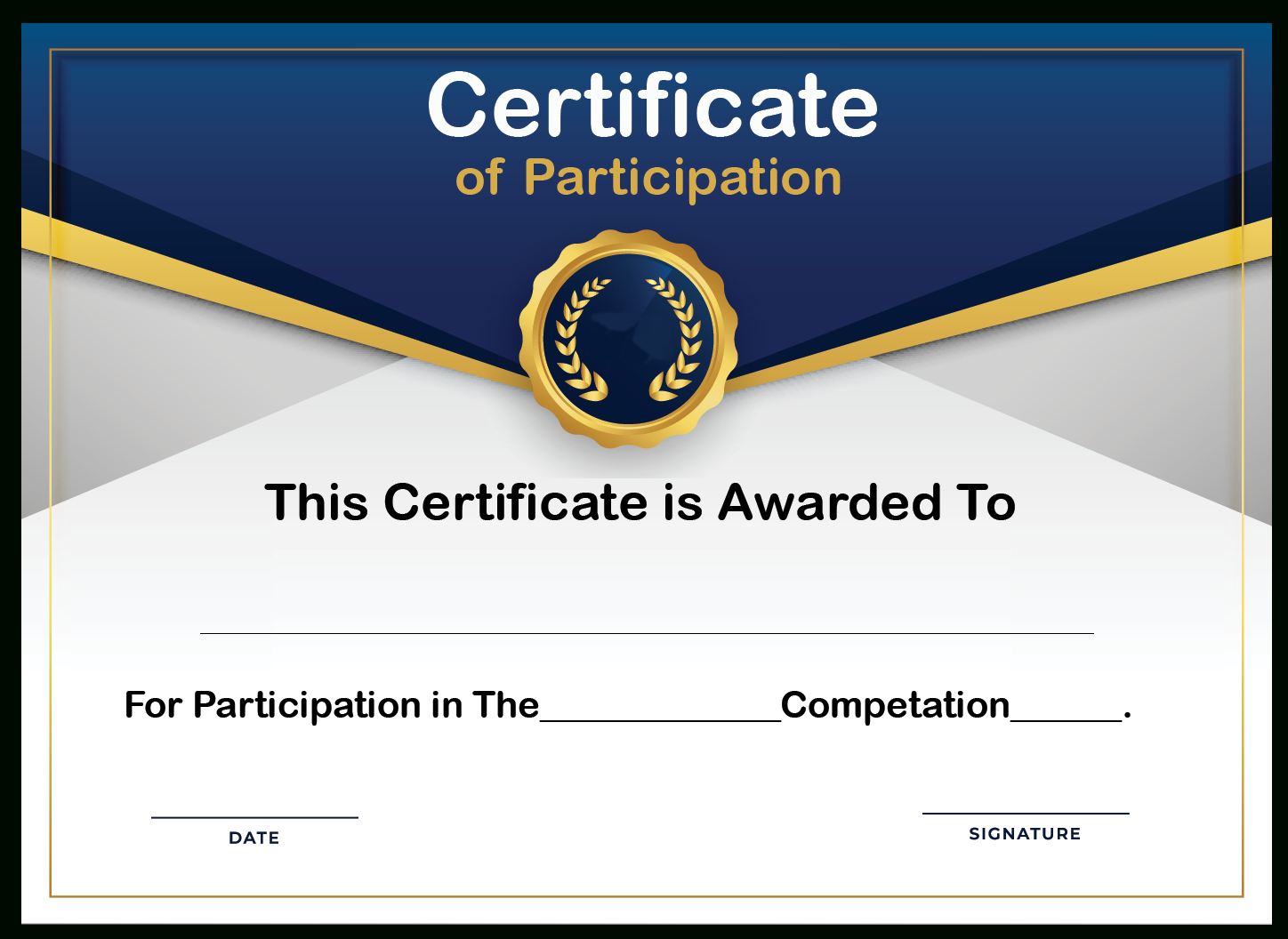 Free Sample Format Of Certificate Of Participation Template For Certificate Of Participation Template Doc