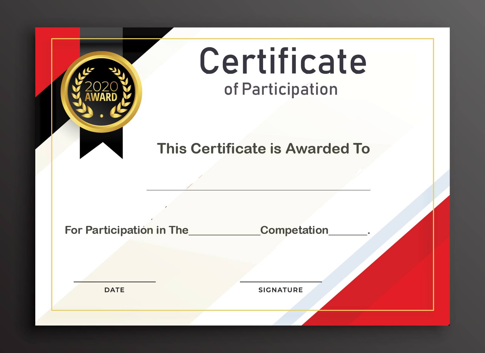 Free Sample Format Of Certificate Of Participation Template With Regard To Sample Certificate Of Participation Template