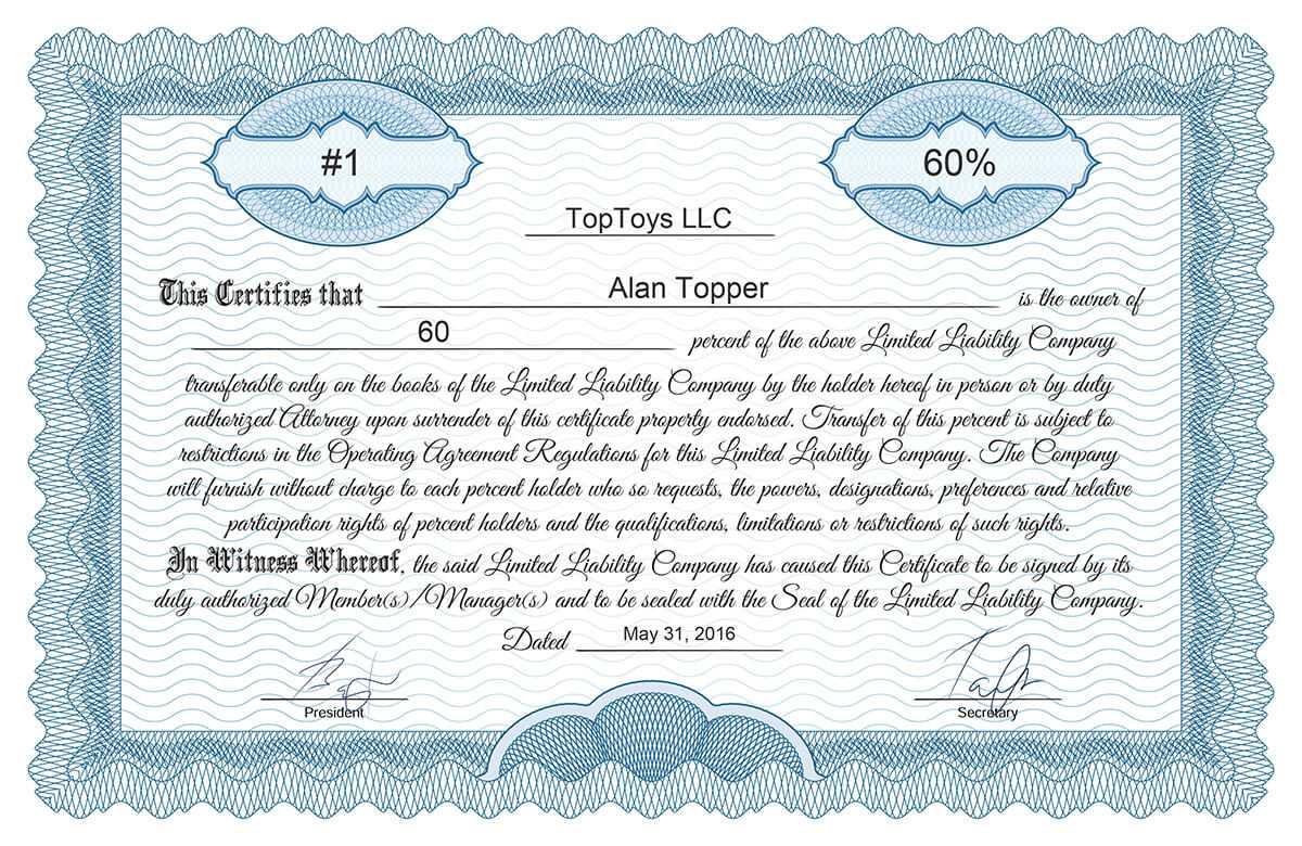 Free Stock Certificate Online Generator Inside Ownership Certificate Template
