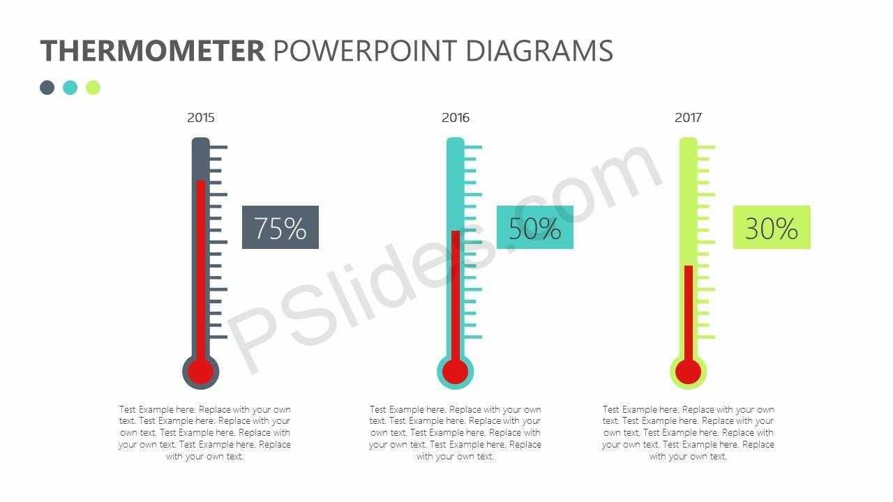 Free Thermometer Powerpoint Diagrams - Pslides Regarding Thermometer Powerpoint Template