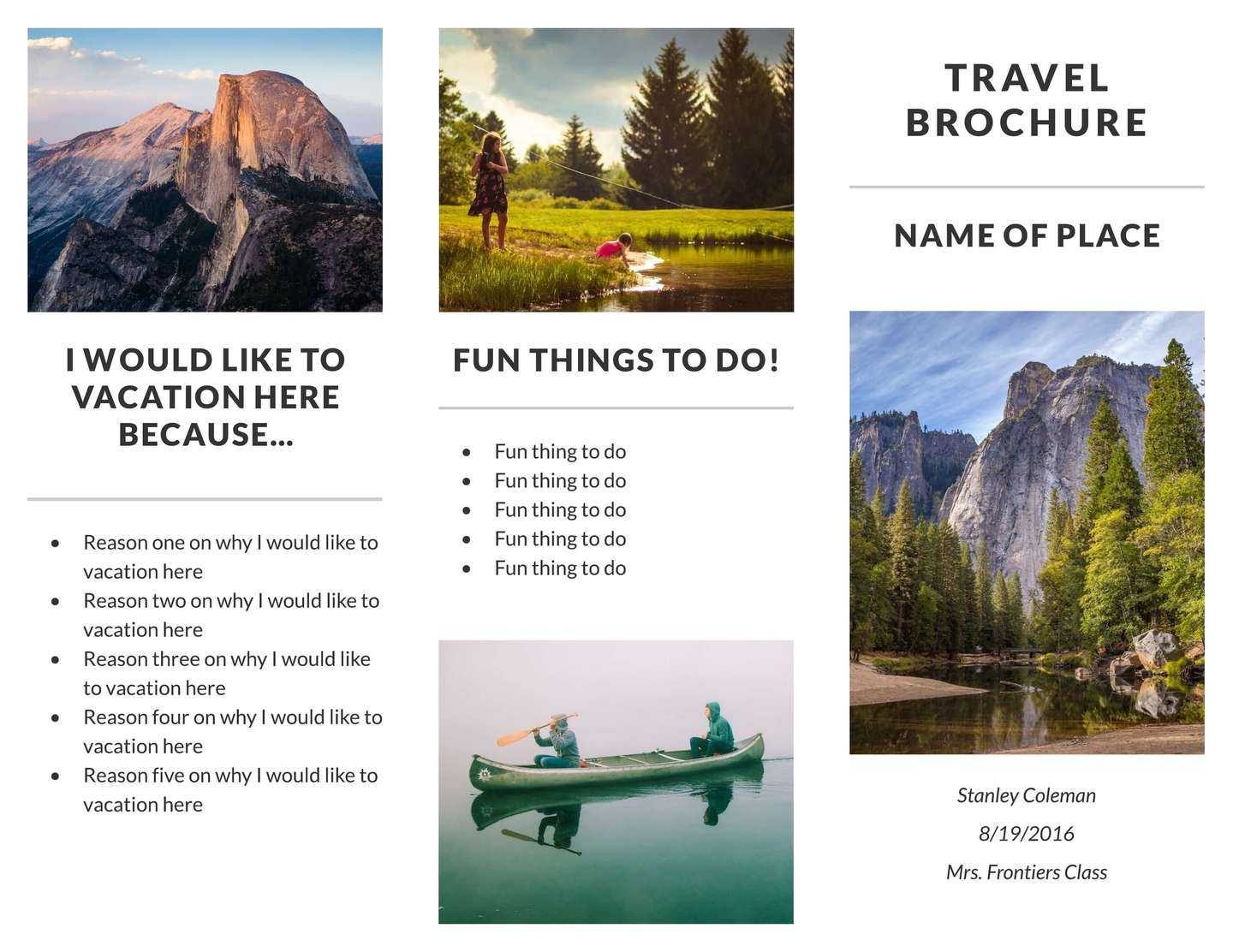 Free Travel Brochure Templates & Examples [8 Free Templates] Within Island Brochure Template