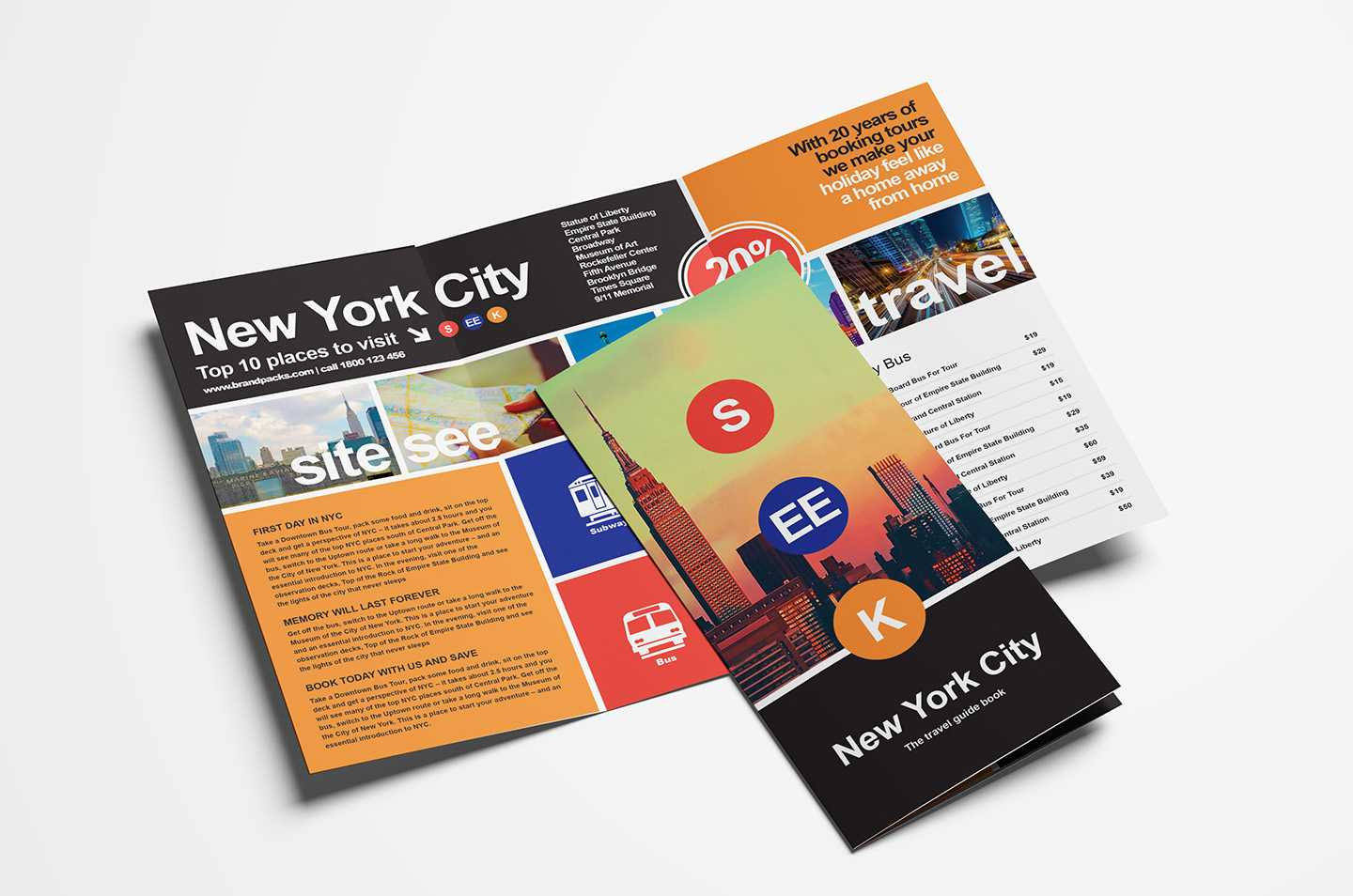 Free Travel Trifold Brochure Template For Photoshop With Regard To Free Online Tri Fold Brochure Template
