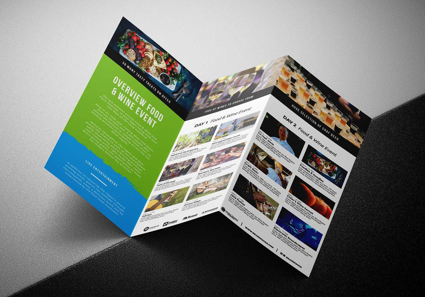 Free Tri Fold Brochure Template For Events & Festivals - Psd Throughout Membership Brochure Template