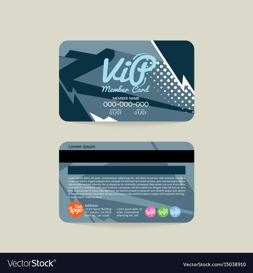 Front And Back Vip Member Card Template Pertaining To Membership Card Template Free