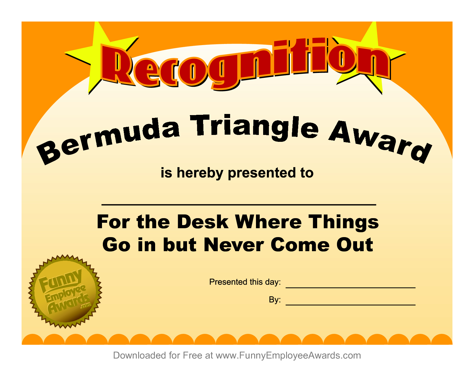 Funny Certificate Template ] - Funny Award Certificate Throughout Free Printable Funny Certificate Templates