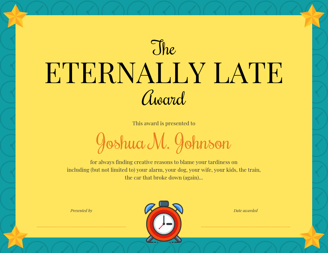Funny Certificate Template Intended For Funny Certificate Templates