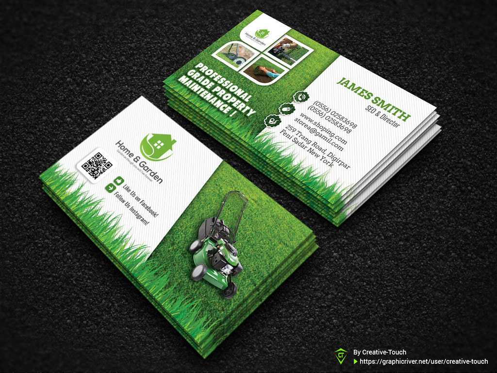Garden Landscape Business Card Template | Download Here - Gr With Landscaping Business Card Template