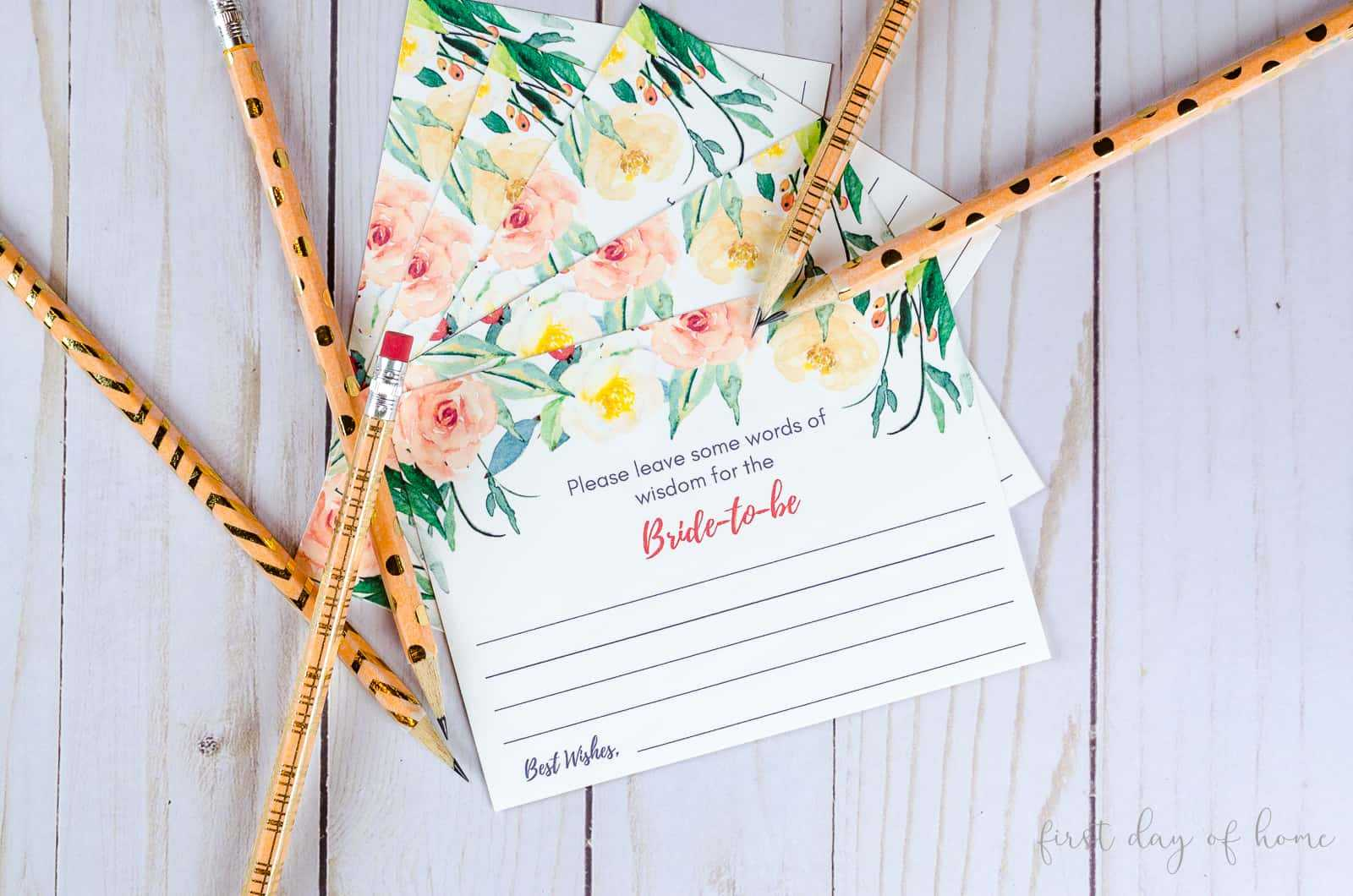 Get Diy Advice Cards For A Wedding {Free Download} With Regard To Marriage Advice Cards Templates