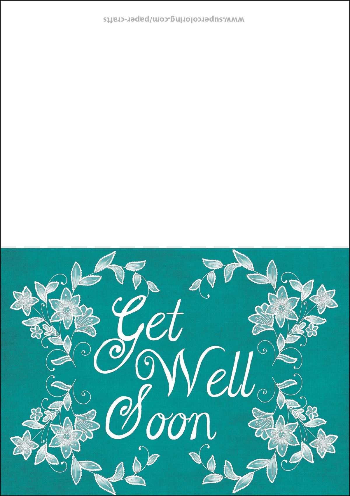Get Well Soon Card Template | Free Printable Papercraft Pertaining To Get Well Soon Card Template