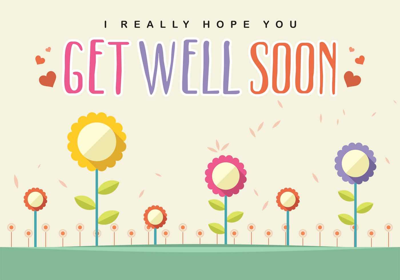 Get Well Soon Card Vector - Download Free Vectors, Clipart Throughout Get Well Card Template