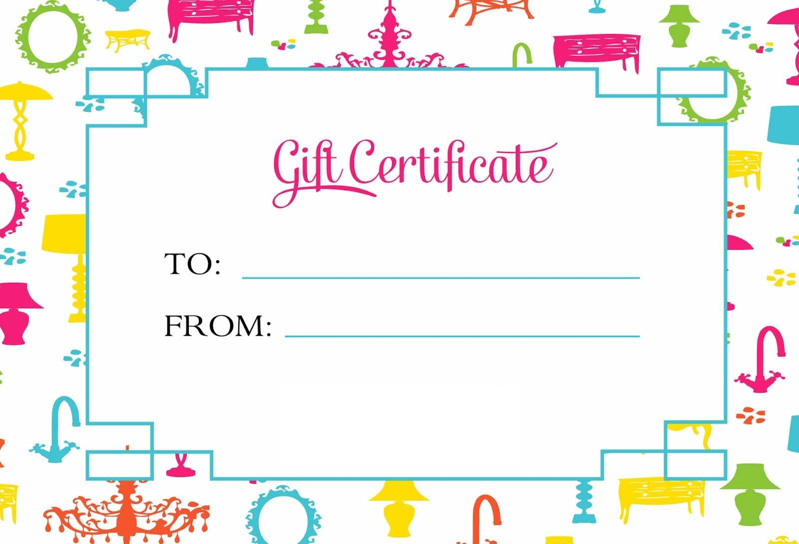 Gift Certificate Template For Kids Blanks | Loving Printable Inside Kids Gift Certificate Template