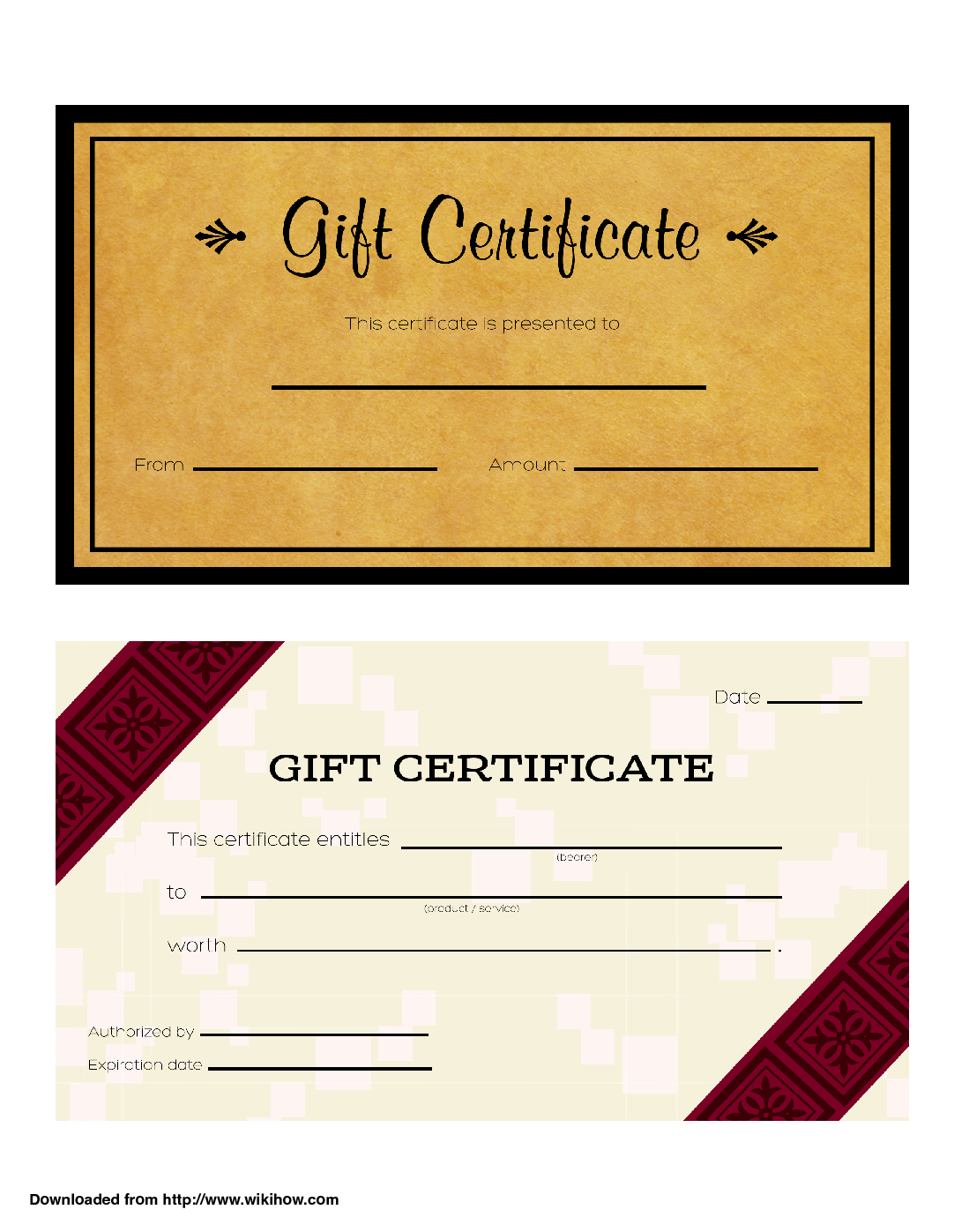 Gift Certificate Templates – Wikihow With Regard To Homemade Gift Certificate Template
