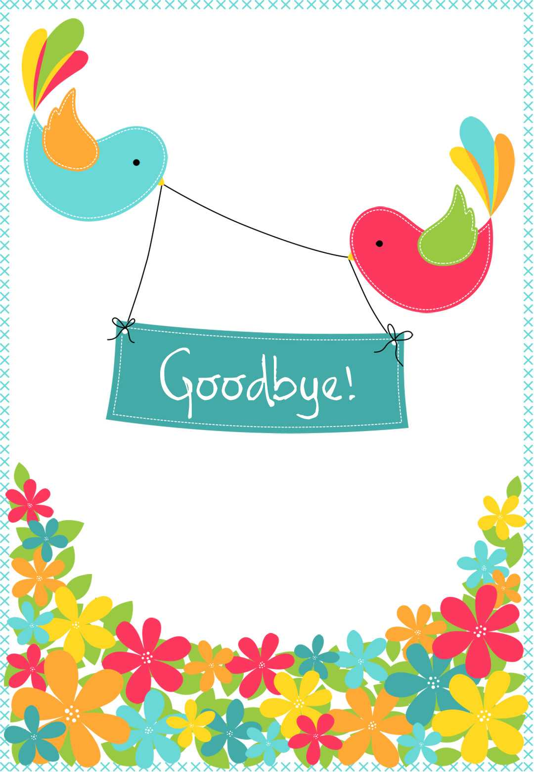 Goodbye From Your Colleagues - Good Luck Card (Free Intended For Goodbye Card Template