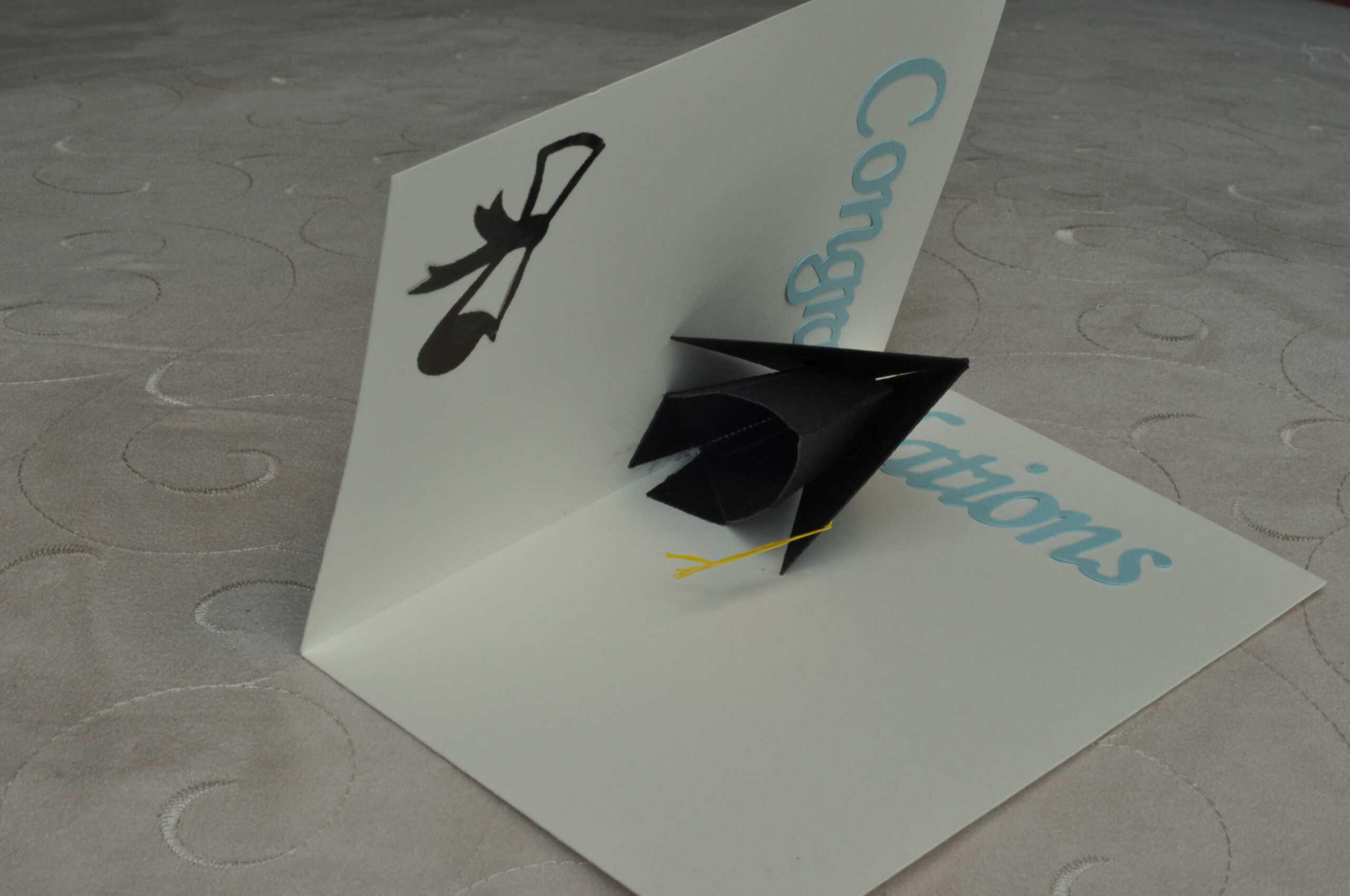 Graduation Pop Up Card: 3D Cap – Creative Pop Up Cards With Regard To Graduation Pop Up Card Template