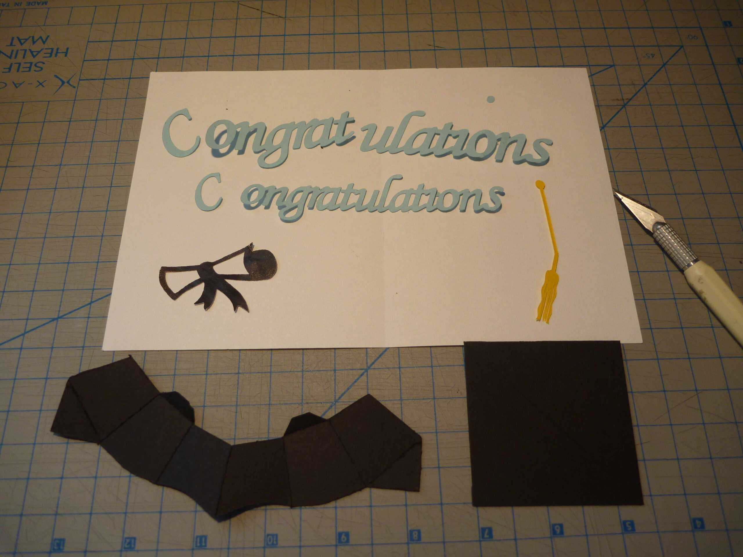 Graduation Pop Up Card: 3D Cap Tutorial - Creative Pop Up Cards With Graduation Pop Up Card Template