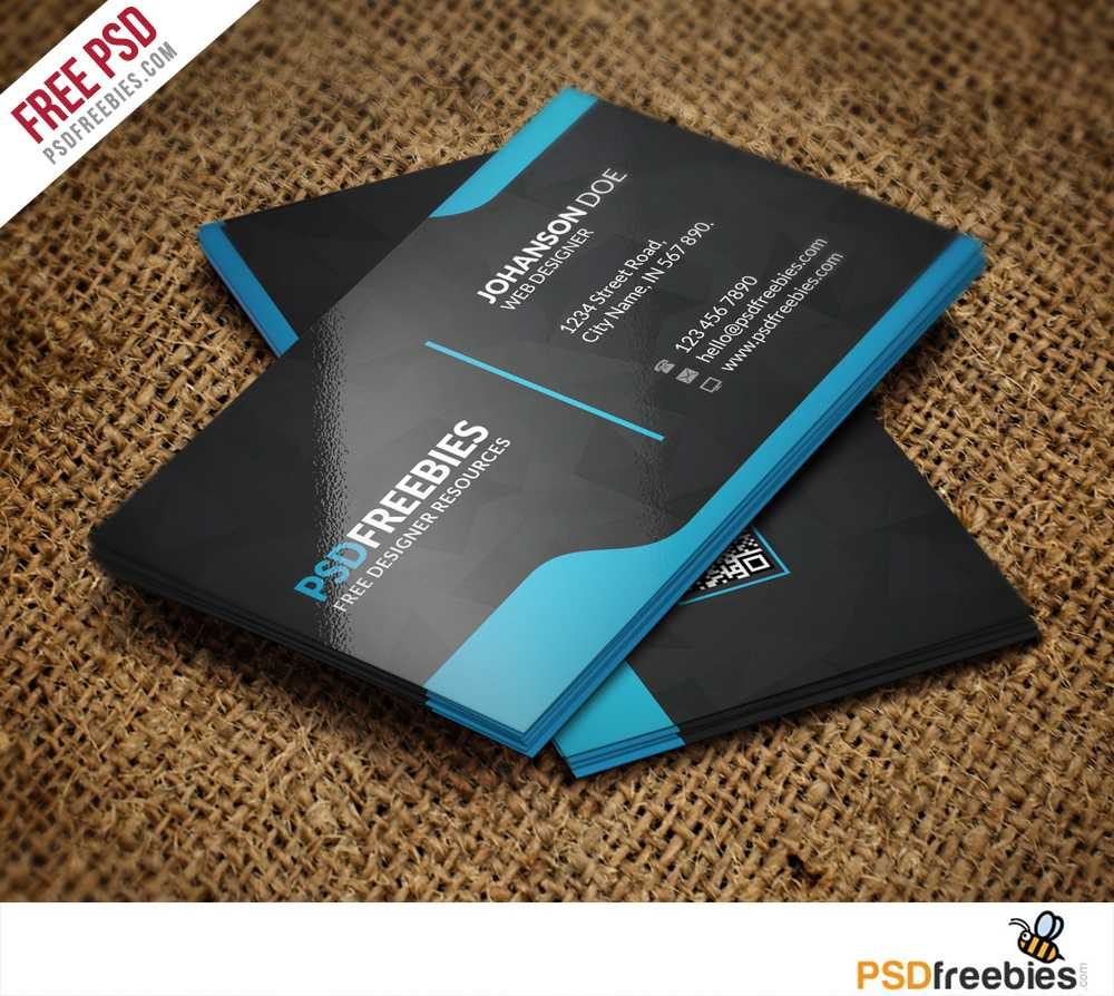 Graphic Designer Business Card Template Free Psd In Templates For Visiting Cards Free Downloads